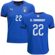 Wholesale Cheap Italy #22 El Shaarawy Home Kid Soccer Country Jersey
