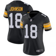 Wholesale Cheap Nike Steelers #18 Diontae Johnson Black Alternate Women's Stitched NFL Vapor Untouchable Limited Jersey