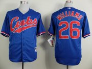 Wholesale Cheap Cubs #26 Billy Williams Blue 1994 Turn Back The Clock Stitched MLB Jersey
