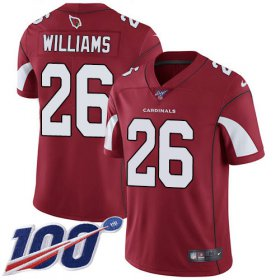 Wholesale Cheap Nike Cardinals #26 Brandon Williams Red Team Color Men\'s Stitched NFL 100th Season Vapor Limited Jersey