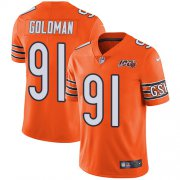 Wholesale Cheap Nike Bears #91 Eddie Goldman Orange Men's 100th Season Stitched NFL Limited Rush Jersey