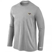 Wholesale Cheap Nike Baltimore Ravens Sideline Legend Authentic Logo Long Sleeve T-Shirt Grey