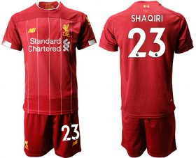 Wholesale Cheap Liverpool #23 Shaqiri Red Home Soccer Club Jersey