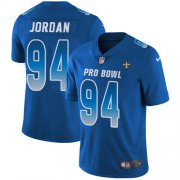 Wholesale Cheap Nike Saints #94 Cameron Jordan Royal Youth Stitched NFL Limited NFC 2019 Pro Bowl Jersey