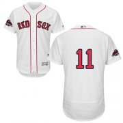 Wholesale Cheap Red Sox #11 Rafael Devers White Flexbase Authentic Collection 2018 World Series Champions Stitched MLB Jersey