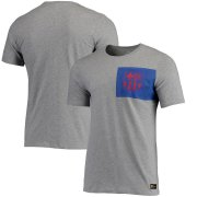 Wholesale Cheap Barcelona Nike Team Crest T-Shirt Heathered Gray