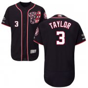 Wholesale Cheap Nationals #3 Michael Taylor Navy Blue Flexbase Authentic Collection 2019 World Series Champions Stitched MLB Jersey