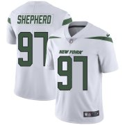 Wholesale Cheap Nike Jets #97 Nathan Shepherd White Youth Stitched NFL Vapor Untouchable Limited Jersey