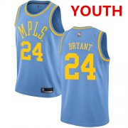 Cheap Youth Los Angeles Lakers #24 Kobe Bryant Royal Blue Basketball Swingman Hardwood Classics Jersey