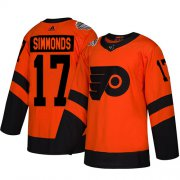 Wholesale Cheap Adidas Flyers #17 Wayne Simmonds Orange Authentic 2019 Stadium Series Stitched Youth NHL Jersey