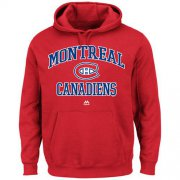 Wholesale Cheap Montreal Canadiens Majestic Heart & Soul Hoodie Red