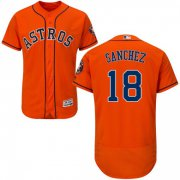 Wholesale Cheap Astros #18 Aaron Sanchez Orange Flexbase Authentic Collection Stitched MLB Jersey