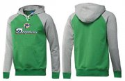 Wholesale Cheap Miami Dolphins Authentic Logo Pullover Hoodie Green & Grey