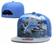 Wholesale Cheap Lions Team Logo Blue Gray Adjustable Leather Hat TX