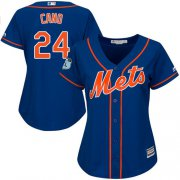 Wholesale Cheap Mets #24 Robinson Cano Blue Alternate Women's Stitched MLB Jersey