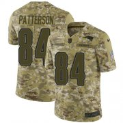 Wholesale Cheap Nike Patriots #84 Cordarrelle Patterson Camo Men's Stitched NFL Limited 2018 Salute To Service Jersey