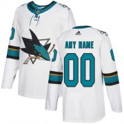 Wholesale Cheap Men's Adidas Sharks Personalized Authentic White Road NHL Jersey