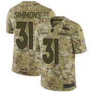 Wholesale Cheap Nike Broncos #31 Justin Simmons Camo Youth Stitched NFL Limited 2018 Salute to Service Jersey