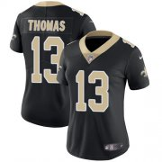 Wholesale Cheap Nike Saints #13 Michael Thomas Black Team Color Women's Stitched NFL Vapor Untouchable Limited Jersey