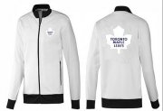 Wholesale Cheap NHL Toronto Maple Leafs Zip Jackets White-1