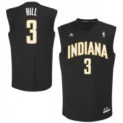 Wholesale Cheap Indiana Pacers 3 George Hill Black Fashion Replica Jersey