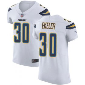 Wholesale Cheap Nike Chargers #30 Austin Ekeler White Men\'s Stitched NFL Vapor Untouchable Elite Jersey