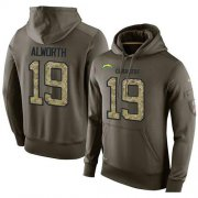 Wholesale Cheap NFL Men's Nike Los Angeles Chargers #19 Lance Alworth Stitched Green Olive Salute To Service KO Performance Hoodie