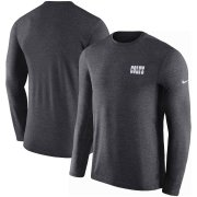 Wholesale Cheap Indianapolis Colts Nike Sideline Coaches UV Long Sleeve Performance T-Shirt Charcoal