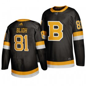 Wholesale Cheap Adidas Boston Bruins #81 Anton Blidh Black 2019-20 Authentic Third Stitched NHL Jersey