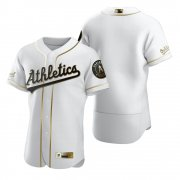 Wholesale Cheap Oakland Athletics Blank White Nike Men's Authentic Golden Edition MLB Jersey