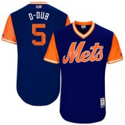 "Wholesale Cheap Mets #5 David Wright Royal ""D-Dub"" Players Weekend Authentic Stitched MLB Jersey"