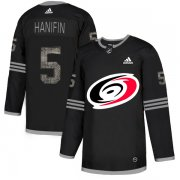 Wholesale Cheap Adidas Hurricanes #5 Noah Hanifin Black Authentic Classic Stitched NHL Jersey