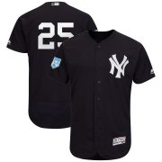 Wholesale Cheap Yankees #25 Gleyber Torres Navy 2019 Spring Training Flex Base Stitched MLB Jersey