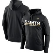 Wholesale Cheap Men's New Orleans Saints Nike Black Sideline Circuit Pullover Performance Hoodie
