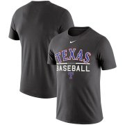 Wholesale Cheap Texas Rangers Nike Practice Performance T-Shirt Anthracite