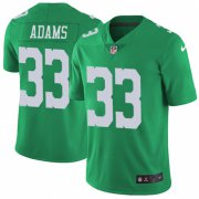 Wholesale Cheap Nike Eagles #33 Josh Adams Green Men's Stitched NFL Limited Rush Jersey