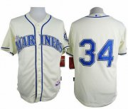 Wholesale Cheap Mariners #34 Felix Hernandez Cream Alternate Cool Base Stitched MLB Jersey
