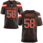 Wholesale Cheap Nike Browns #58 Christian Kirksey Brown Team Color Men's Stitched NFL New Elite Jersey