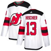 Wholesale Cheap Adidas Devils #13 Nico Hischier White Road Authentic Stitched Youth NHL Jersey