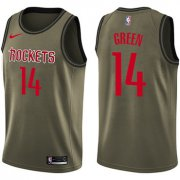 Wholesale Cheap Nike Houston Rockets #14 Gerald Green Green Salute to Service NBA Swingman Jersey