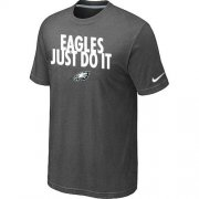Wholesale Cheap Nike Philadelphia Eagles Just Do It Dark Grey T-Shirt