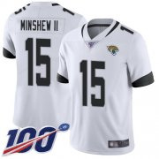 Wholesale Cheap Nike Jaguars #15 Gardner Minshew II White Men's Stitched NFL 100th Season Vapor Limited Jersey