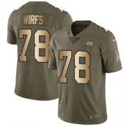 Wholesale Cheap Nike Buccaneers #78 Tristan Wirfs Olive/Gold Youth Stitched NFL Limited 2017 Salute To Service Jersey