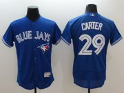 Wholesale Cheap Blue Jays #29 Joe Carter Blue Flexbase Authentic Collection Stitched MLB Jersey