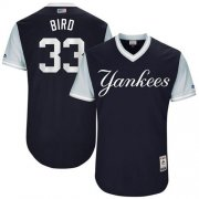 "Wholesale Cheap Yankees #33 Greg Bird Navy ""Bird"" Players Weekend Authentic Stitched MLB Jersey"