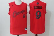 Wholesale Cheap Men's Chicago Bulls #9 Rajon Rondo adidas Red 2016 Christmas Day Stitched NBA Swingman Jersey