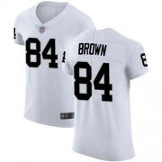 Wholesale Cheap Nike Raiders #84 Antonio Brown White Men's Stitched NFL Vapor Untouchable Elite Jersey