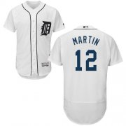 Wholesale Cheap Tigers #12 Leonys Martin White Flexbase Authentic Collection Stitched MLB Jersey