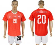 Wholesale Cheap Switzerland #20 Fernandes Red Home Soccer Country Jersey