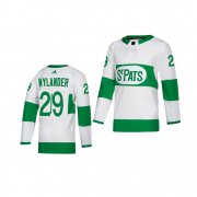 Wholesale Cheap Adidas Maple Leafs #29 William Nylander White 2019 St. Patrick's Day Authentic Player Stitched Youth NHL Jersey